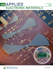 Illustration of the flexible graphene-based rectennas on the cover page of ACS Advanced Electronic Materials.